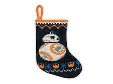 "Disney Star Wars The Last Jedi BB-8 Knit Holiday Christmas Stocking 20"""