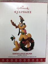 Hallmark Keepsake Collectible Ornament Lq Santa'S Little Helper-Disney Pluto,Nib