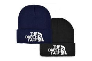 The Darth Face Hat NEW Beanie Black Mens Womens Black Star North Wars