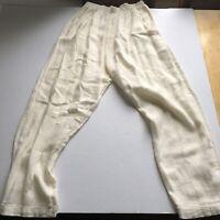 CP Shades Sz S Ivory Linen Blend Pants Lagenlook A383