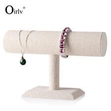 Bangle Bracelet Display Bar Single Tier Stand for Organising Trinkets Wood
