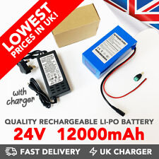 24v 12000mAh DC Rechargeable Li-ion Battery Portable Power Pack - UK