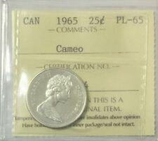 1965 Canada 25 Cents  ICCS Certified PL-65 Cameo   #34968