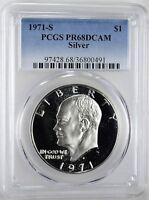 1971-S Eisenhower Silver Dollar - Graded PCGS PR68 DCAM  *161