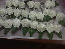 wedding flower buttonhole rose package /ivory foam rose 12 singles