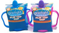 Griptight - First Soft Silicone Spout Flip Top Sipper Sippy Handled Trainer Cup