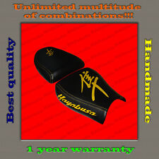CUSTOM Design Seat Cover Suzuki Hayabusa 99-07 black+yellow 001