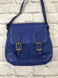 Tignanello Small Genuine Leather Blue shoulder bag Lightly Use.*
