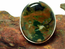 Rainforest  JASPER   Sterling  Silver  925  Gemstone  RING  -  N  -  Gift  Boxed