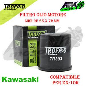 Filtro olio motore per Moto Kawasaki ZX-10R dal 2006 al 2018