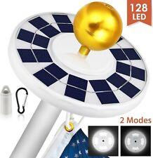 Solar Light 128 LED Flag Pole Lights Waterproof IP67 Auto On/Off Night Lighting.