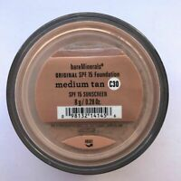 2X Bare Escentuals Bare Minerals Foundation Medium Tan C30 8g XL ORIGINAL SPF15