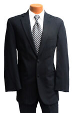 Men's Black Lord West Suit with Pants Semi-Formal Wedding Church Job Interview