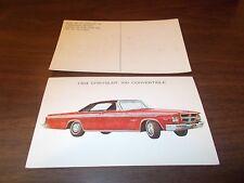 1964 Chrysler 300 Convertible Advertising Postcard