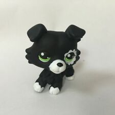 Custom OOAK LPS Short Black collie dog Hand Painted LITTLEST PET SHOP