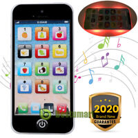 Kids Music Toy Cell Phone | Educational Learning Touch Screen Child Gift Black