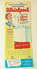 Vintage Ad Print Whirlpool Washing Machine, 1950, 5.5 x 13.5