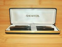 Vintage Boxed Sheaffer Fountain Pen and Ballpoint Set - Serviced - Clean - AN03