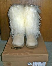 UGG Australia Mongolian Sheepskin Tall Sand Boots SZ 8, NIB*SALE-TODAY ONLY*!!!