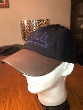 NWT-Polo Ralph Lauren Logo Wool Ball Cap Hat-Leather Bill & Strap-Dark Navy Blue