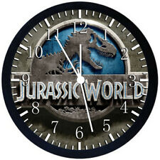 Jurassic World Black Frame Wall Clock Nice For Decor or Gifts F157