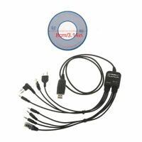 USB 8 in1 Programming Cable for Motorola for Baofeng Kenwood TYT QYT for HYT etc