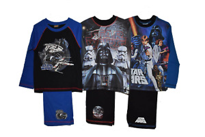Boys Official Disney Star Wars Character Pyjama Pyjamas Pj's Pj Set 4-10 Years