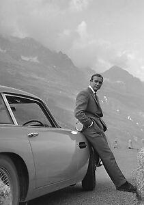 Sean Connery James Bond 007 Aston Martin Vintage Poster - A0 A1 A2 A3 A4 Sizes