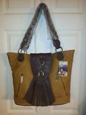 Western Fringe Tan Hobo LG Shoulder Bag Purse Tote by Way West NWT Cowgirl New
