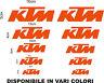 KIT 10 ADESIVI KTM VARIE MISURE COD03