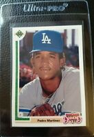 1991 UPPER DECK #2F PEDRO MARTINEZ ROOKIE CARD RC DODGERS RED SOX HOF MINT
