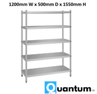 Quantum CE ® 1200mm 5 Tier Commercial Storage Rack Shelf  Stainless Steel 5TSR4F