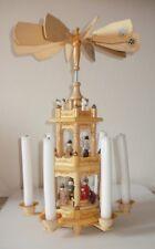 Piramide di Natale - Giostra di Natale ruotante, in legno con candele