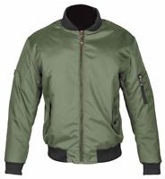 Spada Airforce 1 CE Mens Textile Motorcycle Motorbike Olive Bomber Jacket