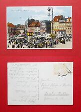 AK TEPLITZ SCHÖNAU in Böhmen um 1930 Marktpkatz am Markttag     ( 39789