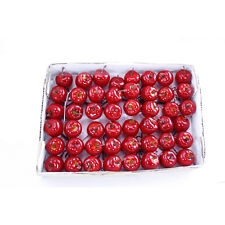 Artificial Mini Apple Pick Deep Shiny Red 2.5cm Box of 48