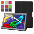 "THIN LEATHER CASE COVER, PROTECTOR & STYLUS FOR LENOVO TAB 2 A10-70/A10-30 (10"")"