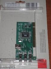 Scheda PCI 3+1 Porte FireWire IEEE 1394a Card 4 ports