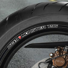 DUCATI MONSTER 796 WHEEL RIM STICKERS - NEW