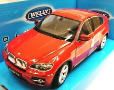 WELLY 1/24 BMW X6 ROUGE