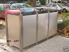 Edelstahl Mülltonnenbox, NEU, Mülltonnenumrandung, 3x Mülleimer 240 Liter, Neu