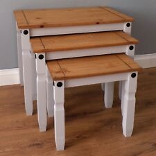 Corona Grey Nest of Tables 3 Side End Tables by Mercers Furniture®