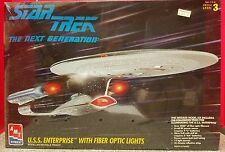 Star Trek Next Generation USS Enterprise W/Fiber Optic Lights 1994 AMT Sealed!