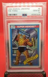 1990 Marvel Universe The Thing PSA 10 GEM MINT Impel #6