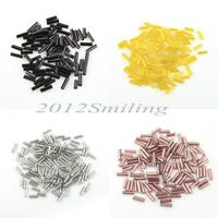 1000pcs(50g) Mixed Tube Czech Glass Spacer Beads 8*2mm For Jewelry Making DIY