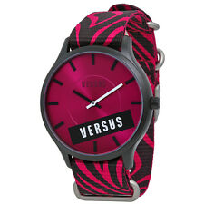 Versus By Versace Tiger Pink Canvas Ladies Watch S06100014