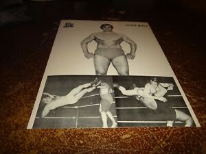 jackie wiecz  Quebec grand prix wrestling black & white lutte press photo 1 wwe