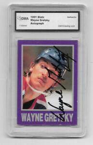 Wayne Gretzky LA Kings 1991 Statz - Signed AUTO - GMA authenticated  - HOF