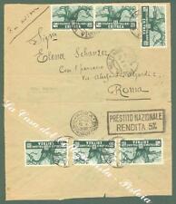 Storia postale. COLONIE ITALIANE, ERITREA. Sei pezzi cent. 25 verde...