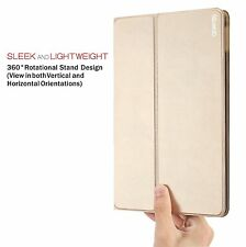 Case For Apple iPad Air 2 Poetic【DuraBook】Slim 360 Degree Rotary Standing Gold